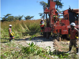Borehole drilling at Lusungu Children's Home