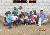 Some of the children who will benefit from the new well