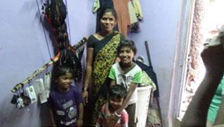 Maina and her kids