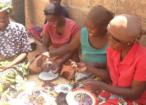 Sponsored mothers making jewelry