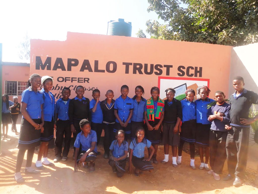 UNFF sponsored students at the Mapalo School