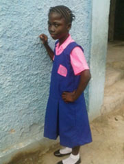 Mariama in her school uniform