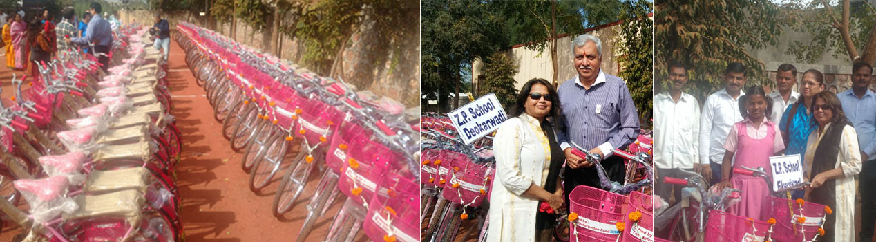 Bicycle Donation Camp for schoolgirls, Pune